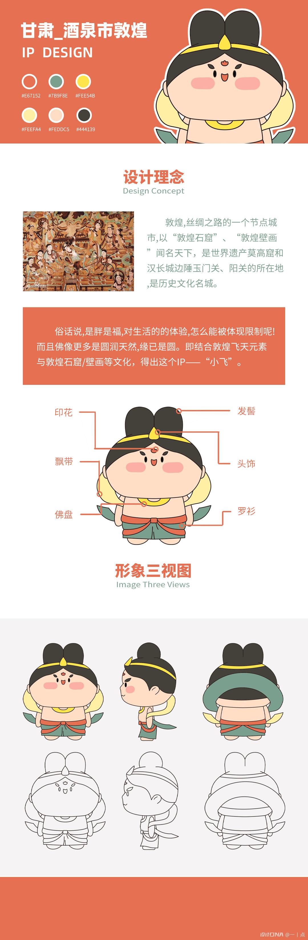 敦煌飞天IP形象设计_小胖 图1