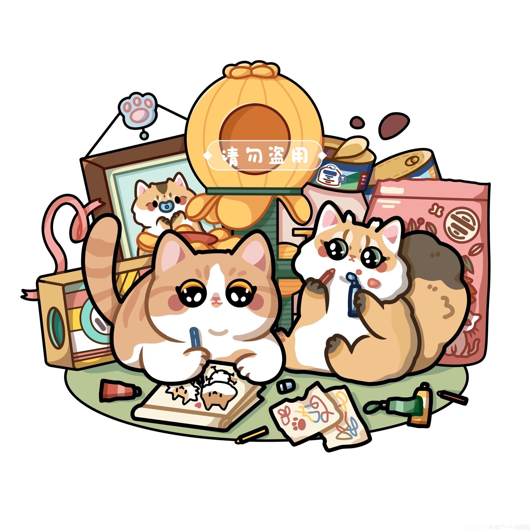 手绘猫猫头像 图1