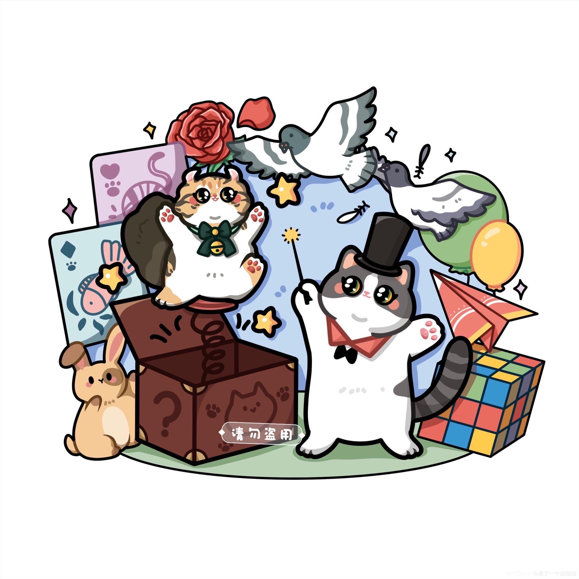 手绘猫猫头像 图2